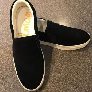 Sam Edelman black leather sneakers, size 9